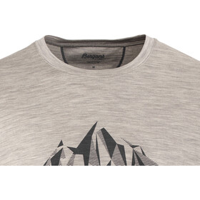 Bergans Explore Wool Tee Men Grey Melange/Night Blue
